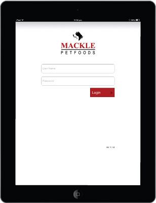 Mackle Pet Food Remote order app - Login