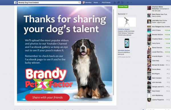Brandy Facebook Pet Factor App